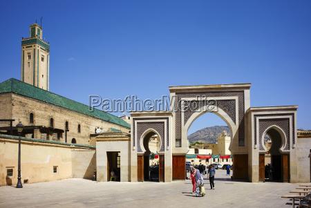bab rcif gate fez morocco north