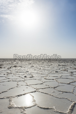 pure salt in a salt lake