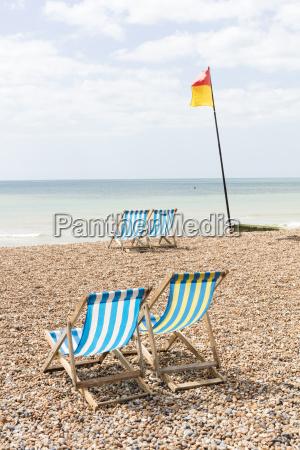 deckchairs on the beach brighton east