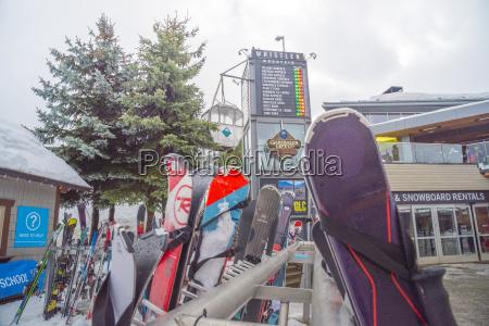 ski equipment outside the glc a