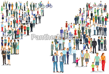 people groups directions illustration
