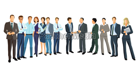 group picture with diverse business peopleillustration