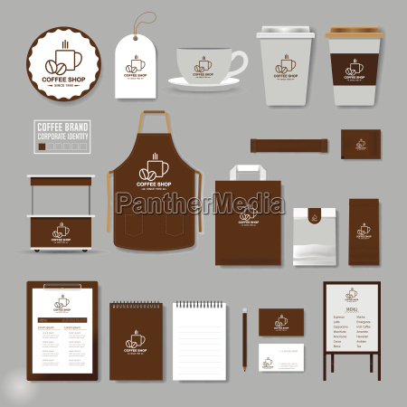 corporate identity template logo concept for