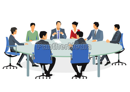 business people at meeting and consulting