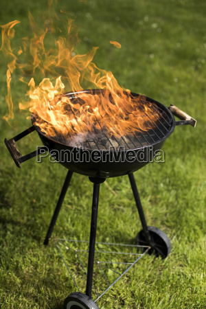 fire background grill