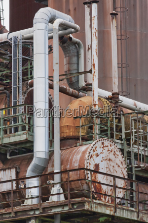 detail of the blast furnace group